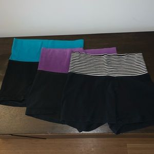 Set of black workout/lounge shorts - 18 for all 3